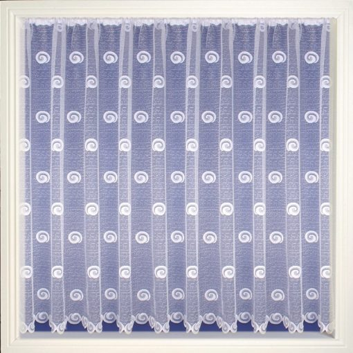 Spiral Swirls - White Net Curtains