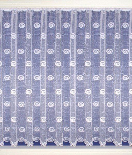 Spiral Swirls - White Net Curtains