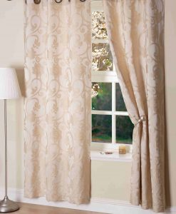 Hanover Ready Made Curtains Ivory