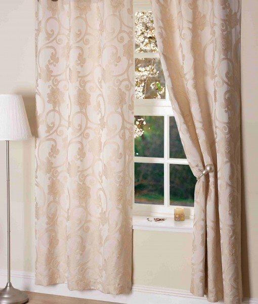 Hanover Ready Made Curtains Ivory