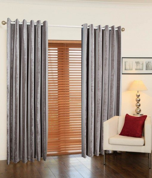 Juliet Stripe Ready Made Curtains Silver
