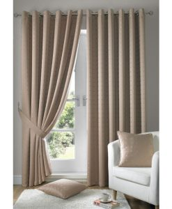 Madison - Latte Brown Ready Made Curtains