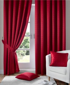 Madison - Red Ready Made Curtains