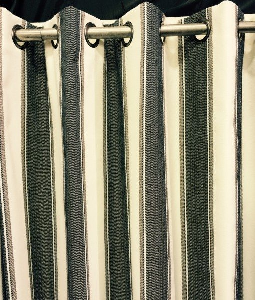 New York Ready Made Curtains Charcoal