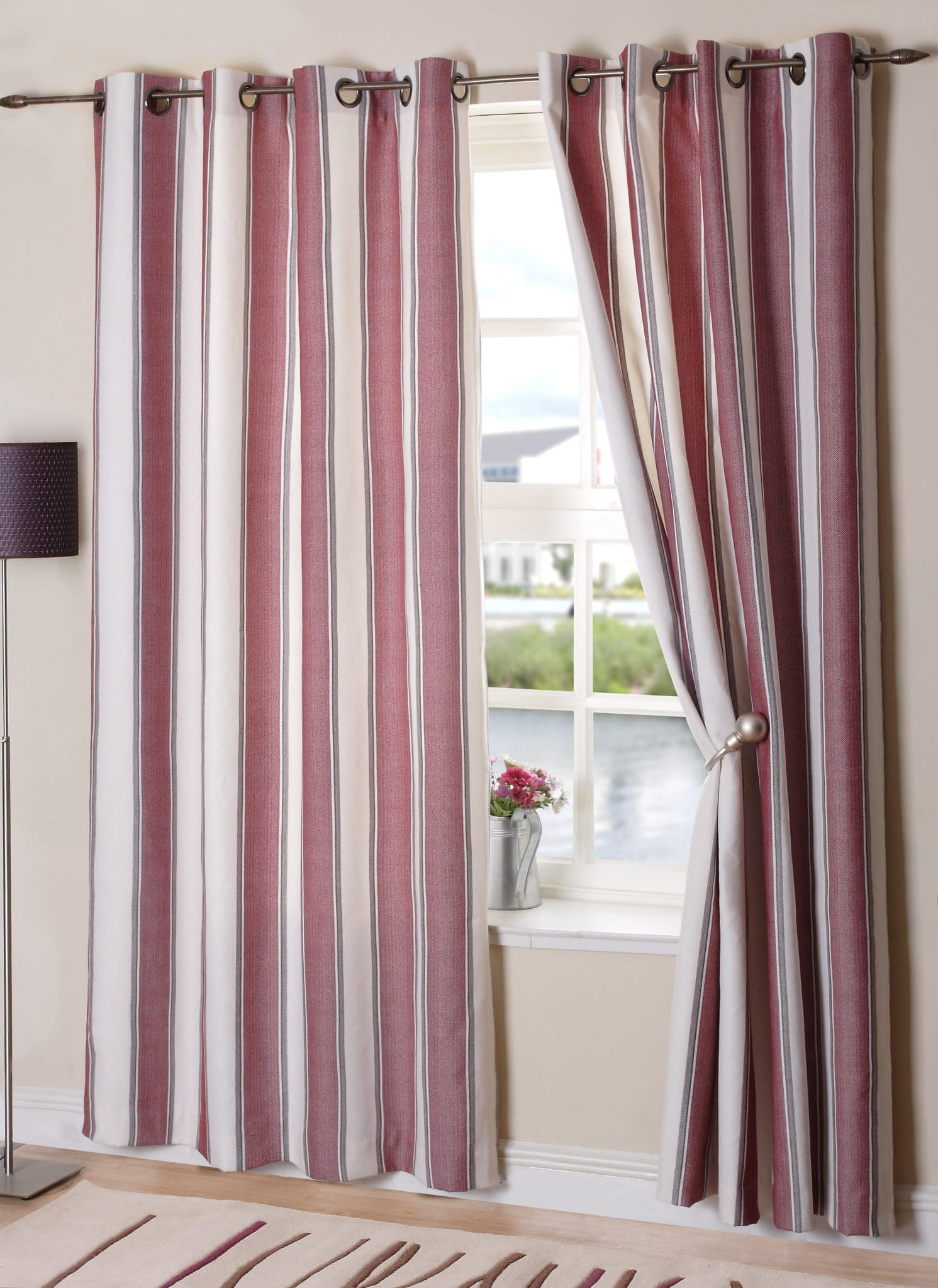 New York Wine Eyelet Curtain Ready Made Curtains Online