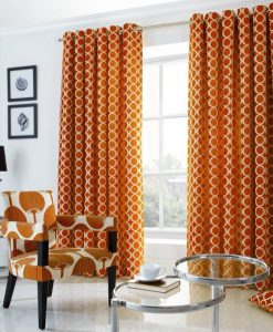 OH - Orange Ready Made Curtains