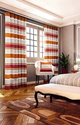 Pimlico - Orange Ready Made Curtains