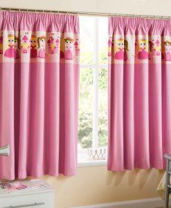 Princess - Pink Children's Ready Made Curtains