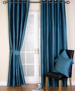 Ripple Ready Made Curtains Kingfisher