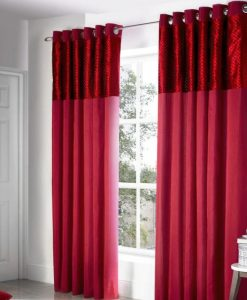 Savoy - Red Ready Made Curtains