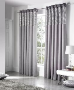 Savoy - Silver Ready Made Curtains