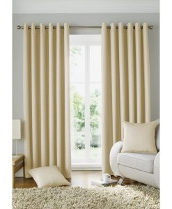 Solitaire Ready Made Curtains Cream