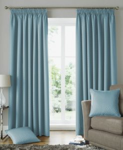 Solitaire Ready Made Curtains Duck Egg