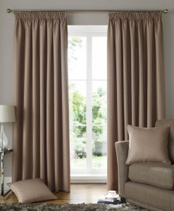 Solitaire Ready Made Curtains Latte