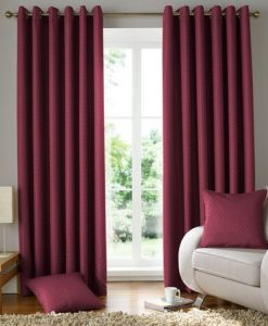 Solitaire Ready Made Curtains Wine