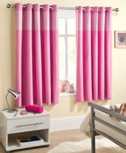 Sweetheart - Pink Ready Made Curtains