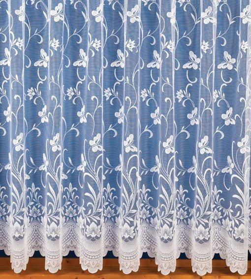 Butterfly - White Net Curtains