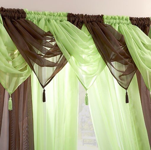 Voile Swag Nets - Chocolate or Lime