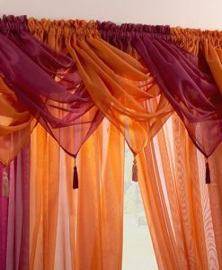 Voile Swag Nets - Maroon or Orange