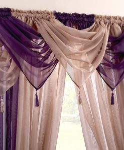Voile Swag Nets - Purple or Coffee