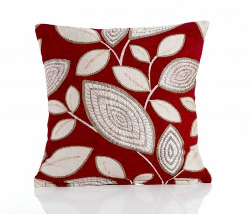London Leaf - Red Cushion Covers