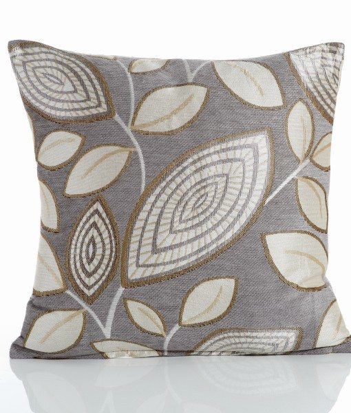 London Leaf - Silver Cushion Covers