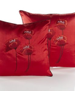Poppy - Red Cushion Covers