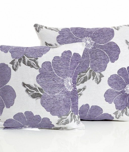 Poppy - Purple Cushion Covers
