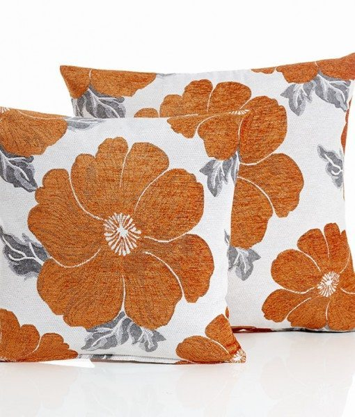 Poppy - Orange Cushion Covers
