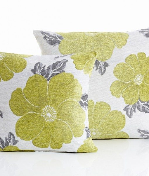 Poppy - Lime Cushion Covers