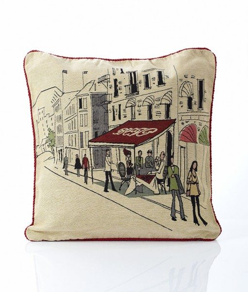 Street Cafe - Tapestry Cushion Covers