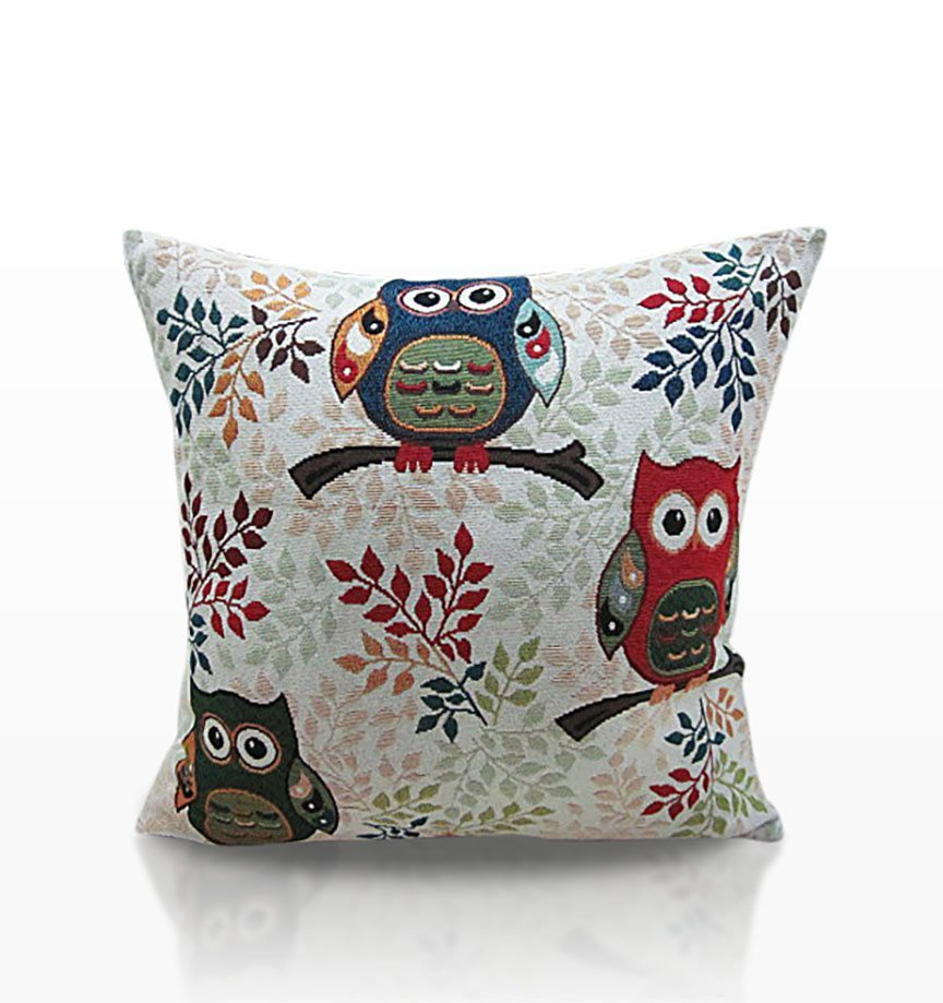 Toowit Owl Tapestry Cushion Covers Dublin Ireland