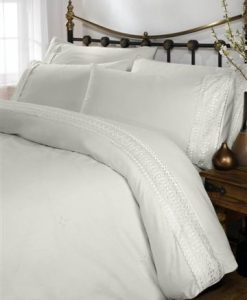 Hampton White Duvet Cover
