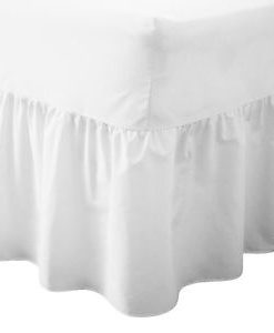 Fitted Valance - Bed Sheets - White
