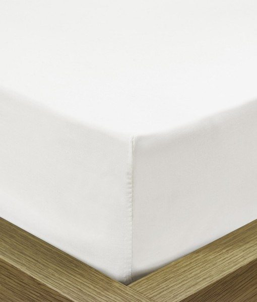 Percale - Fitted White - Bed Sheets