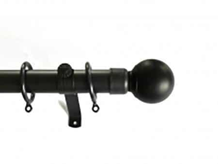 Black - Metal Curtain Poles