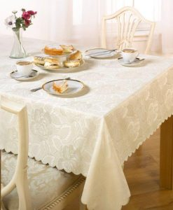 Damask Rose - Tablecloth - Cream