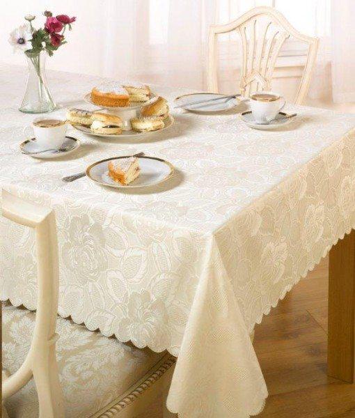 Damask Rose - Tablecloth - Cream