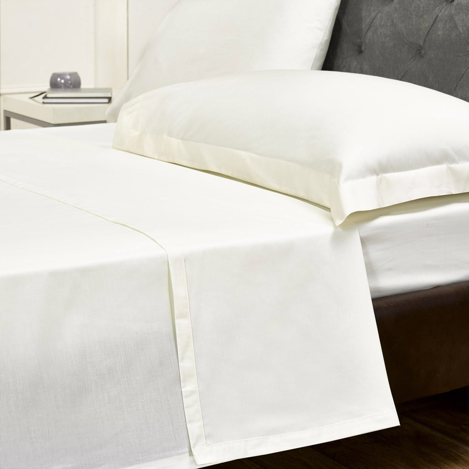 Egyption Flat Bed Sheets Cream