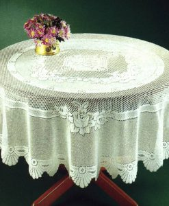 Monica - Tablecloths - Round (White)