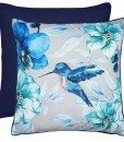Hummingbird - Filled Cushions - Blue
