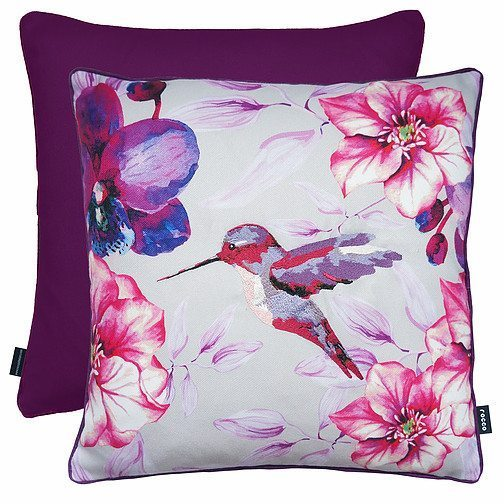 Hummingbird - Filled Cushions - Purple