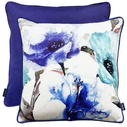 Flora- Filled Cushions - Blue
