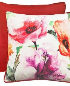 Flora - Filled Cushions - Red