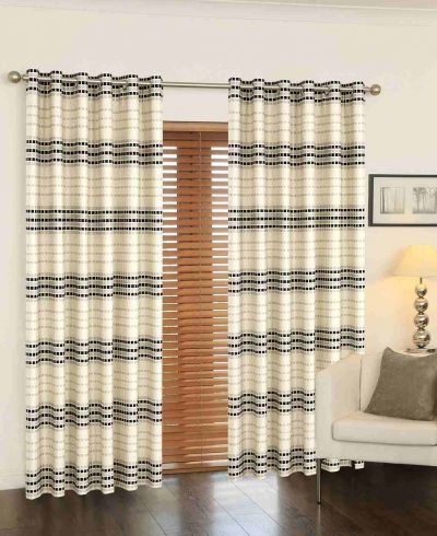 Cubic - Readymade Curtains - Black