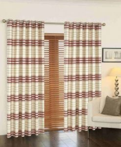 Cubic - Readymade Curtains - Red