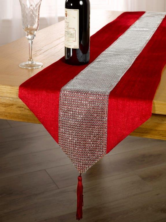 eclat red table runners kitchen duffy s curtains