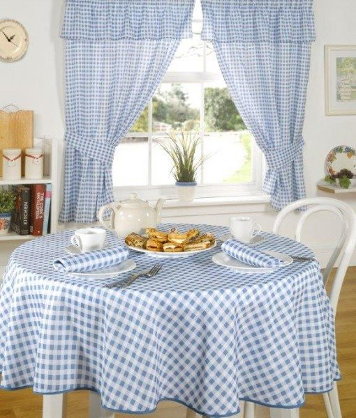 Molly - Kitchen Curtains - Blue