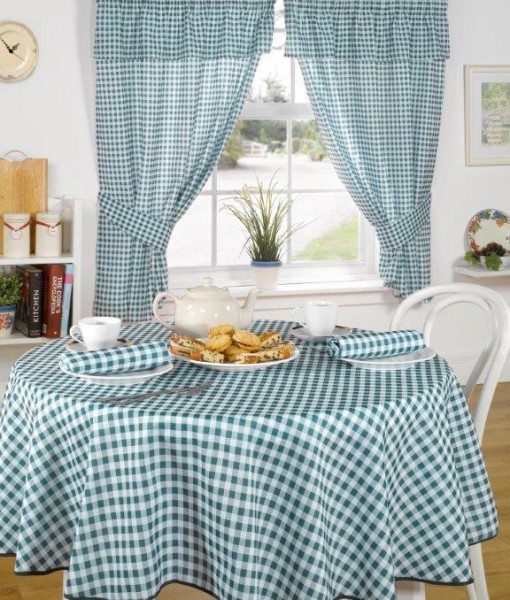 Molly - Kitchen Curtains - Green