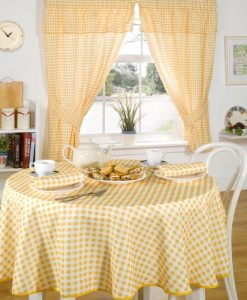 Molly - Kitchen Curtains - Lemon